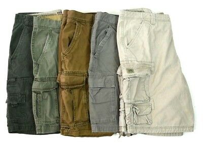 Lot 5 Cargo Shorts Mens Size 36 Camo Khaki Beige Taupe Brown Green
