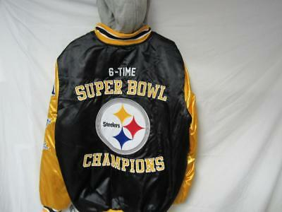 0be618b8 Steelers Mens XL 6 Time Super Bowl Champions Jacket with Removable Hood B1  91