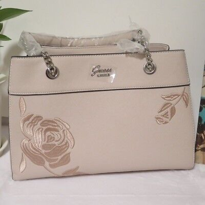 adb5e6c3c6 Guess G Logo Cross Body Shoulder Purse Hand Bag Color Nude Flowers Hadlee  NWT