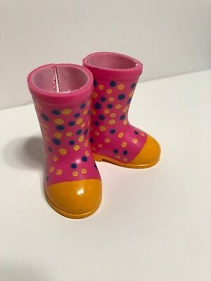 "American Girl Doll Wellie Wishers 14.5"" Kendall Pink Meet Rain Boots"