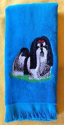 Shih Tzu, Towel,  Embroidered, Custom, Personalized, Dog