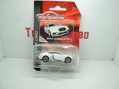 Majorette Bentley Continental Gt V8 S White Premium Cars Mint In Box Pack