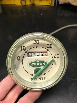 Vintage Crown Twenty Bicycle Speedometer with Cable