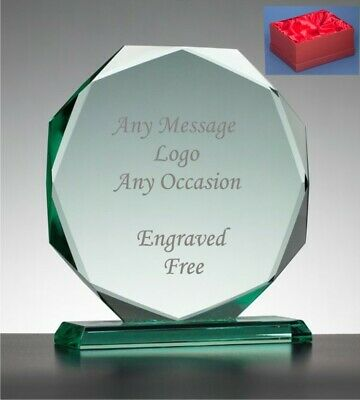 Personalised Engraved Glass & Silver Plated Star Award Trophy - Top Employee