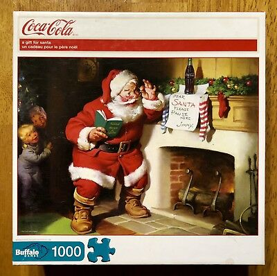 COCA-COLA A Gift for Santa 1000 Piece Jigsaw Puzzle By Buffalo Games Sealed Pkg.