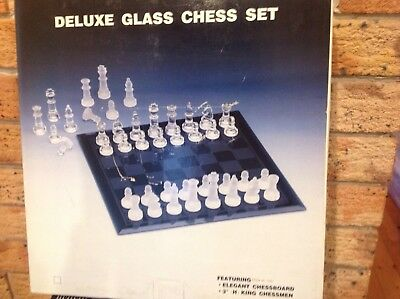 "Deluxe Glass Chess Set ""Sunday Market"""