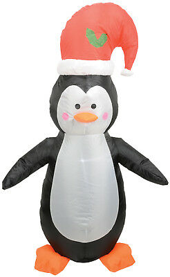 Cute Penguin Inflatable Led Light Up Xmas Decoration Indoor Outdoor 4' High