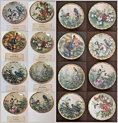 "Lenox Collections Catherine McClung ""Nature's Collage"" Plates 7 w/COA You Choose"