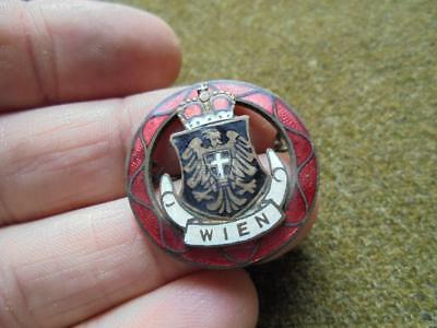 Beautiful enameled WWI Period WEIN Heraldry crest pin