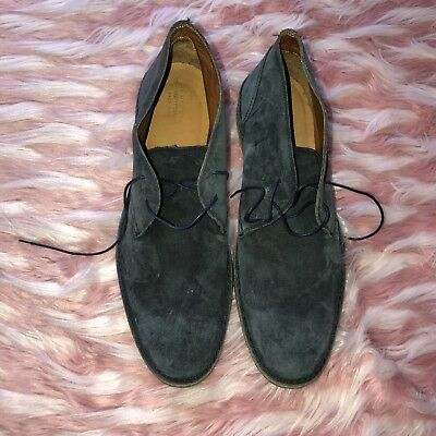a73adad32ee2db The Mens Store Bloomingdales Made in Italy Blue Suede Chukka Boots Size 12