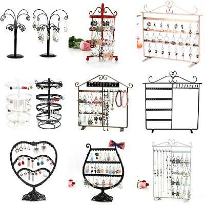Metal 2/3/4 Tiers Stands Rack Jewelry Necklace Keyring Display Organizer Strict