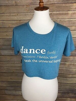 Sugar And Bruno One Size Dance Crop Top Dancewear Graphic Tee