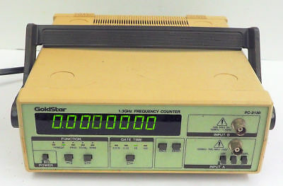 GoldStar FC-2130 Universal Bench Digital Frequency Counter - 50 MHz to 1.3 GHz
