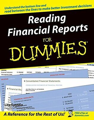 Reading Financial Reports For Dummies by Epstein, Lita Paperback Book The Cheap