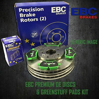 EBC 360mm FRONT BRAKE DISCS + GREENSTUFF PADS KIT SET OE QUALITY KIT18298