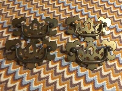 4 Vintage Hardware Colonial Brass drawer pulls Chippendale Batwing CB 812 Canada