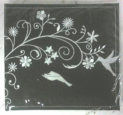 """NEW Black / White Birds on Flower 50 Pages 200 Pockets for 4"""" x 6"""" Photo Album"""