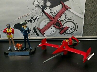 Cowboy Bebop Bandai Anime Collector Set. Swordfish Spaceship Spike Ein Faye