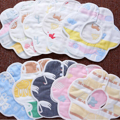 Newborn Toddler Cotton Baby Infant Bibs Boy Girl Saliva Towel Kids Bib Feeding
