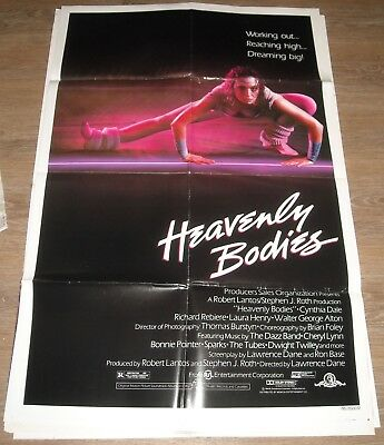 1985 Heavenly Bodies 1 Sheet Movie Poster Cynthia Dale Sexy Photo Laura Henry