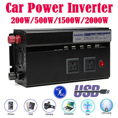 New Car Power Inverter Converter Modified Sine Wave for CAR CARAVAN CAMPING BOAT