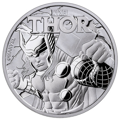 2018 Tuvalu 1 oz Silver $1 Marvel Series THOR Coin BU