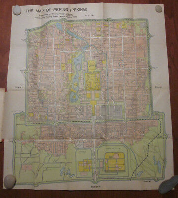 Map of Peiping with Street Directory - 1932 - Beijing Peking - Peiyang Press
