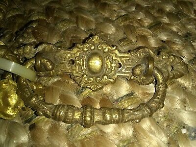 8 Vintage Antique Victorian Brass Ornate Drawer Pulls