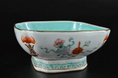 G1801: Chinese Colored porcelain Kashiki DESSERT BOWL/dish Tea Ceremony