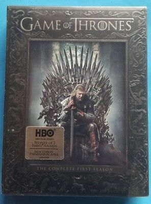 Game of Thrones: The Complete First Season (DVD, 2012, 5-Disc Set) New, Sealed