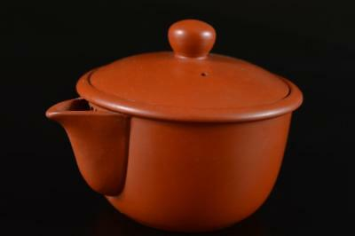 G1848: Japanese Tokoname-ware Brown pottery TEA POT Houhin Sencha Tea Ceremony