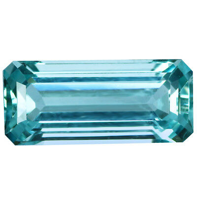 2.86Ct IF Octagan Cut 13 x 6 mm 100% Natural AAA Aqua Blue Color Aquamarine