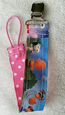 Baby Soother/Pacifier Holder w/Metal Clip/Snoopy & Friends/Brand New/Girls