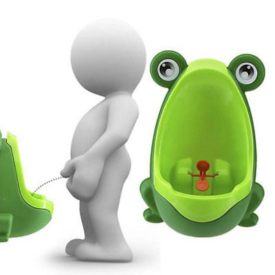 Baby Kid Child Potty Urinal Toilet Training Boy Bathroom Green Frog Pee Trainer