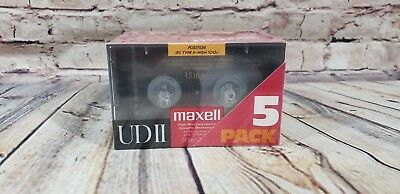 Set of 5 New Sealed Maxell UD-II 90  Cassettes Tapes Type II Made In Japan