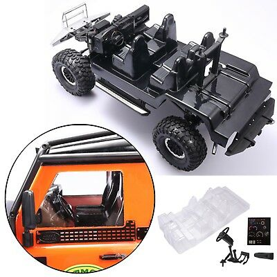 Car Interior Decoration Body Shell + Steering Wheel For Traxxas TRX4  Land Rover