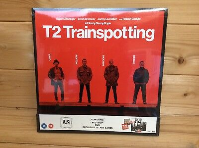 T2 Trainspotting Big Sleeve Edition Blu Ray & DVD BRAND NEW Free Shipping
