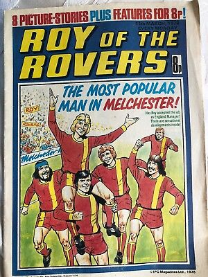 roy of the rovers comics 11th March 1978