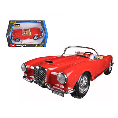New 1955 Lancia Aurelia B24 Spyder Red 1/18 Diecast Model Car by Bburago