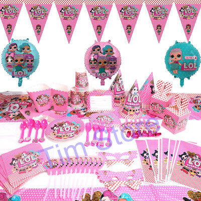 LOL Surprise Birthday Party Girls Supplies Tableware Decor Balloon Tablecloth