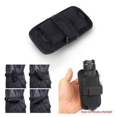 Flashlight Holster Duty Belt Holder Carry Case Pouch 360 Degree Rotatable Clip!