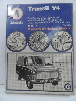 Ford Transit V4 Mk 1 Owners Workshop Manual AUTOBOOKS OMW756 1965-1977 used