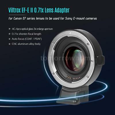 Viltrox Auto Focus Reducer Speed Booster Lens Adapter Ring for Canon EF - SONY E