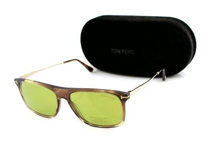84689a99342d6 NEW Genuine TOM FORD MAX-02 Brown Melange Green Sunglasses TF 588 FT 0588  47N