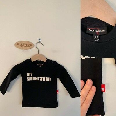 Sz 00 RYB unisex black My Generation tee