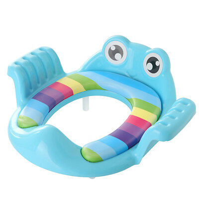 Toddler Toilet Seat Potty Training WC Seat Baby Handle Soft Pad Cushion Kids