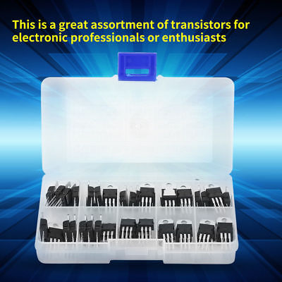 60Pcs Transistors Set Voltage Regulator Assortment 10 Values Portable Durable