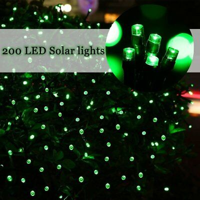 200 LED Solar Power Fairy Lights String Garden Outdoor Wedding Xmas Rare green