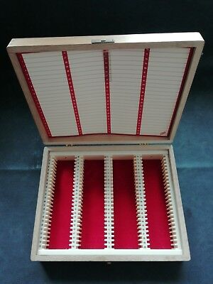 Vintage Boots Wooden 35mm (2 x 2 inch) Slide Case Box Storage 100 slides