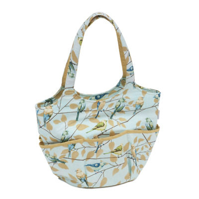 Hobby Gift Fly Away - Bird Print Craft Tote Knit Sewing Shoulder Bag HGBR477